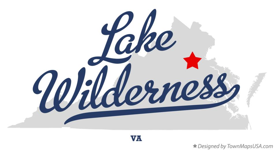 Map of Lake Wilderness Virginia VA