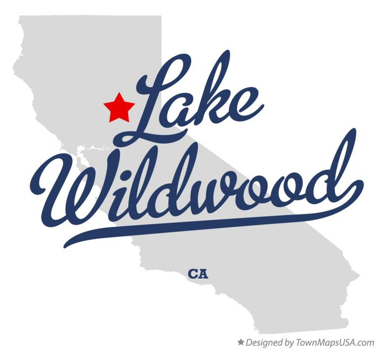 Map of Lake Wildwood California CA