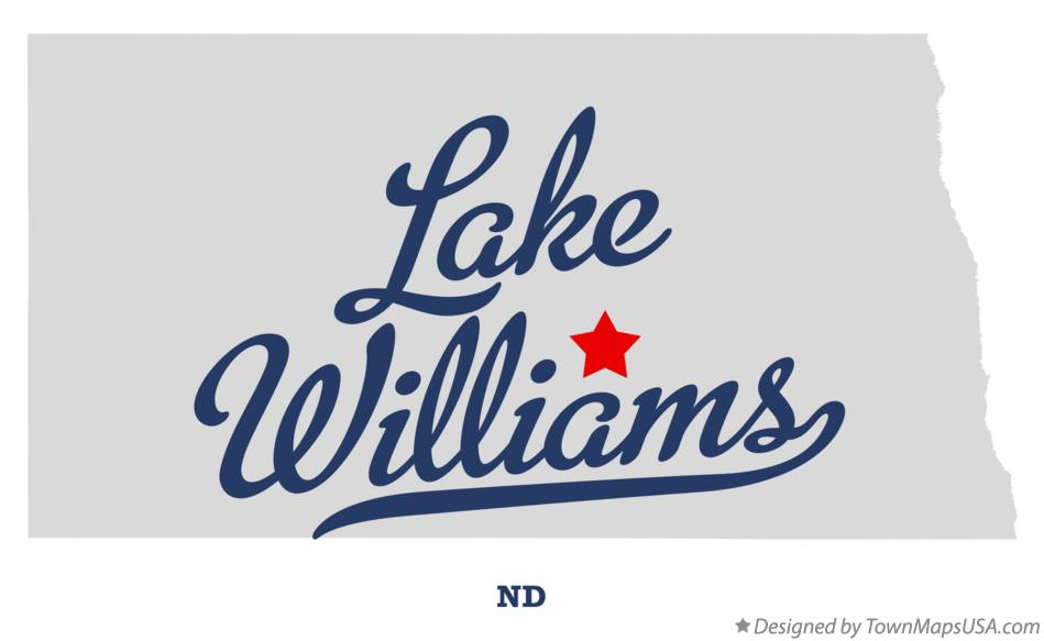 Map of Lake Williams North Dakota ND