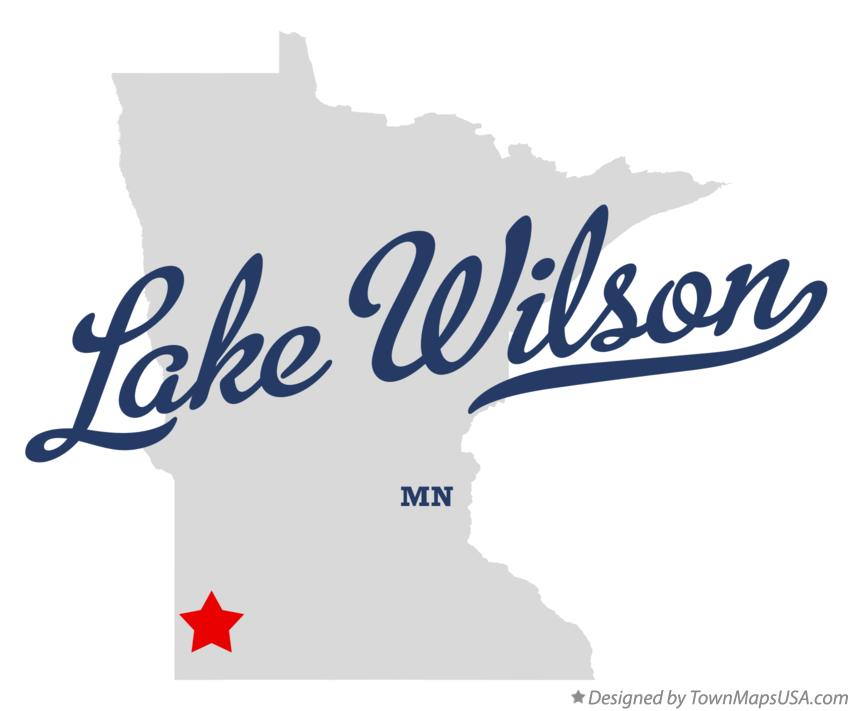 Map of Lake Wilson Minnesota MN