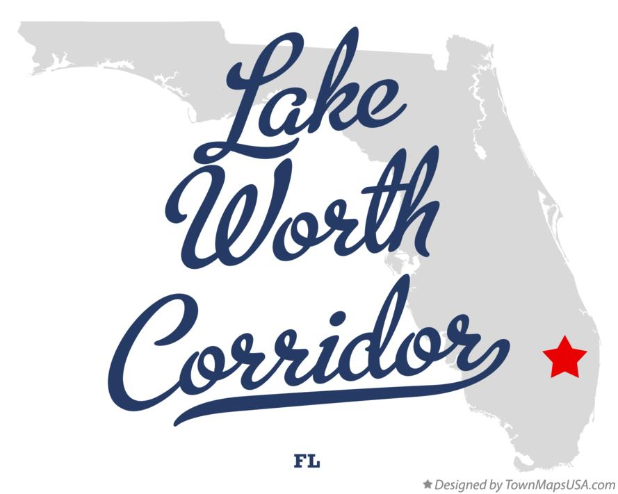 Map of Lake Worth Corridor Florida FL
