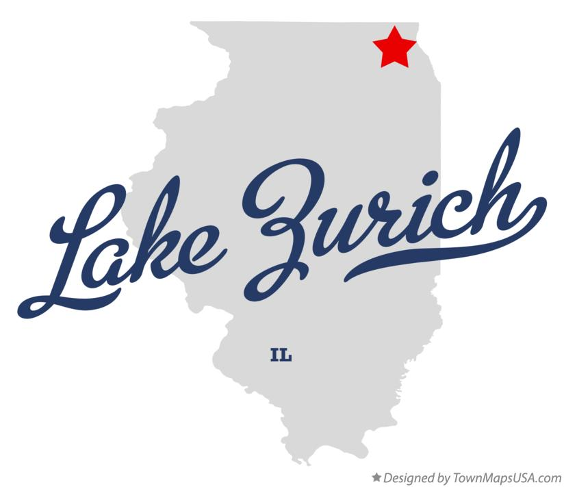 Map of Lake Zurich Illinois IL