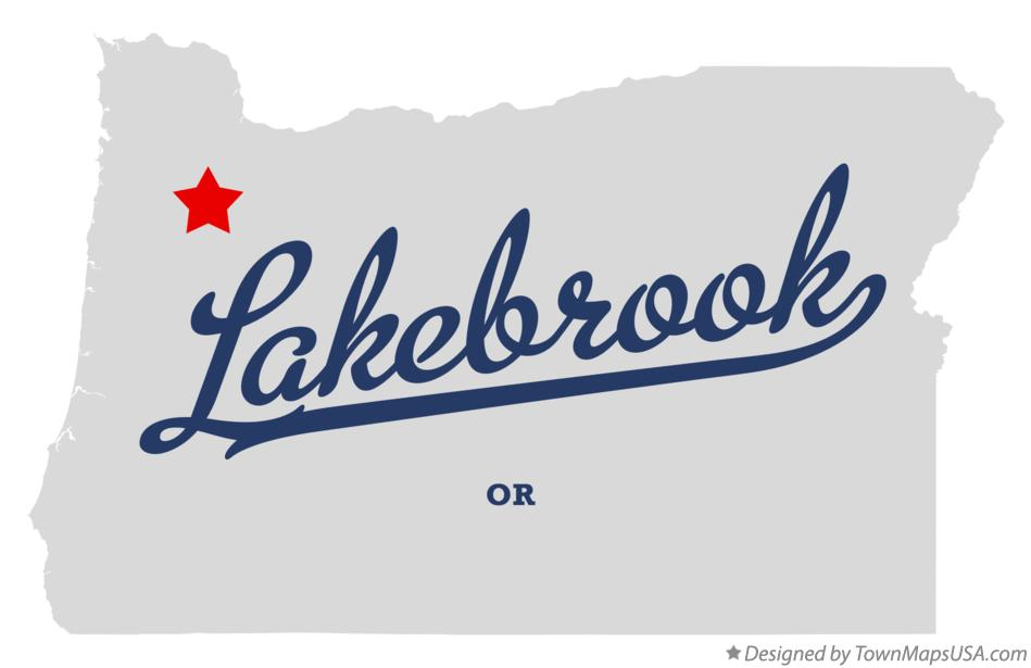 Map of Lakebrook Oregon OR