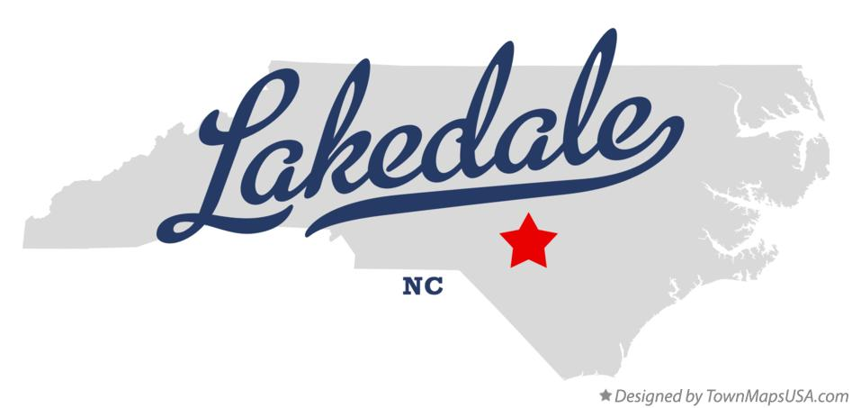 Map of Lakedale North Carolina NC