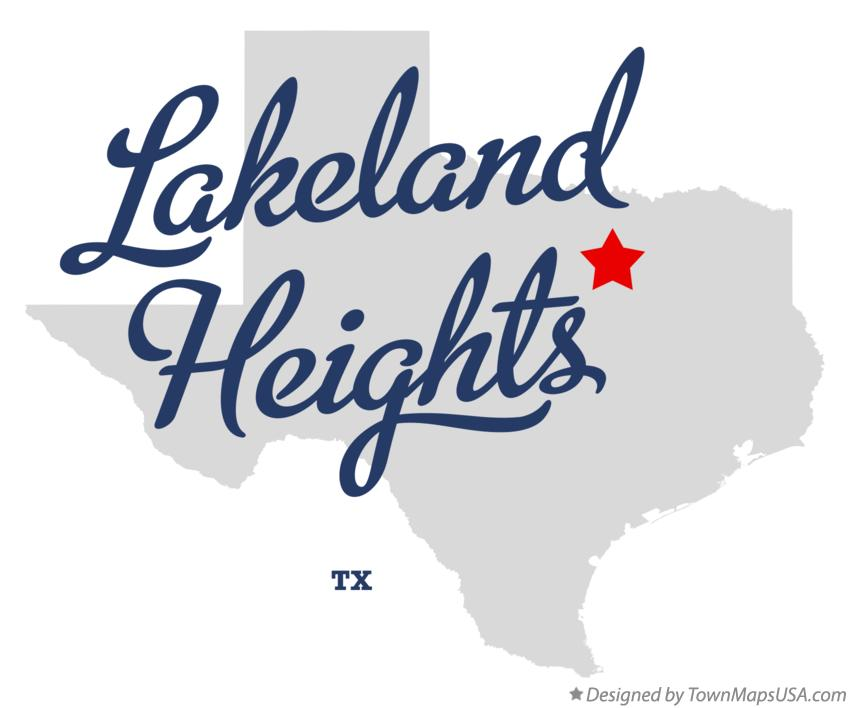 Map of Lakeland Heights Texas TX