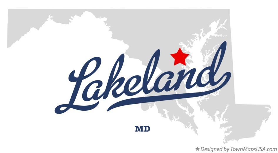 Map of Lakeland Maryland MD