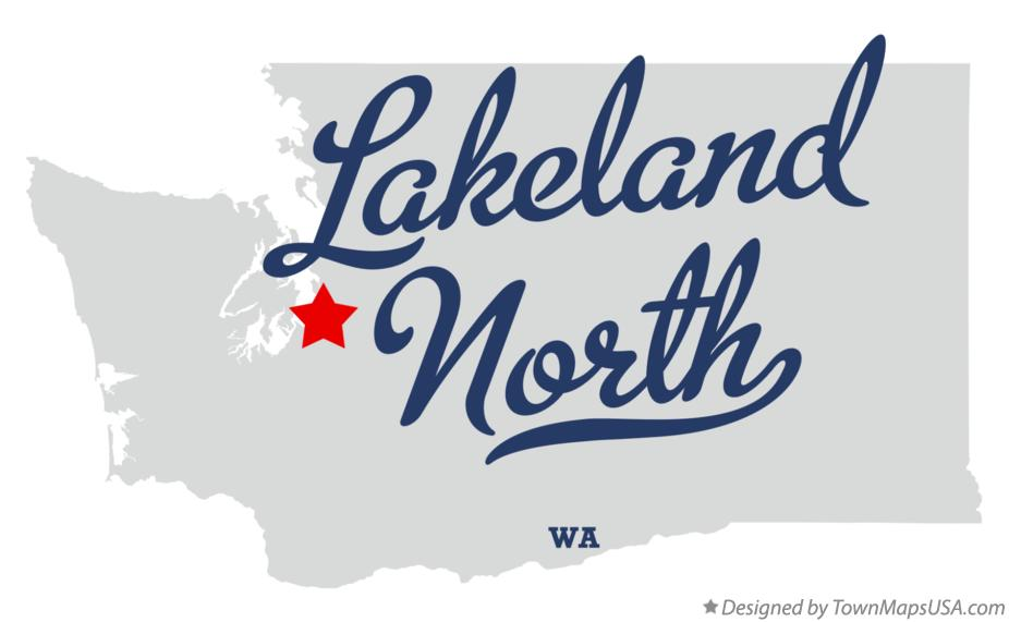 Map of Lakeland North Washington WA