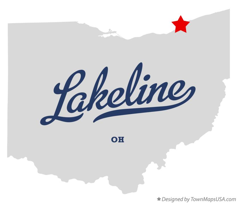 Map of Lakeline Ohio OH