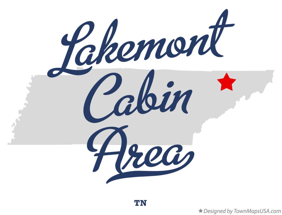 Map of Lakemont Cabin Area Tennessee TN