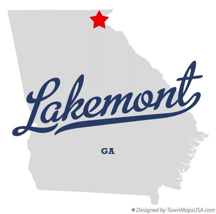 Map of Lakemont Georgia GA