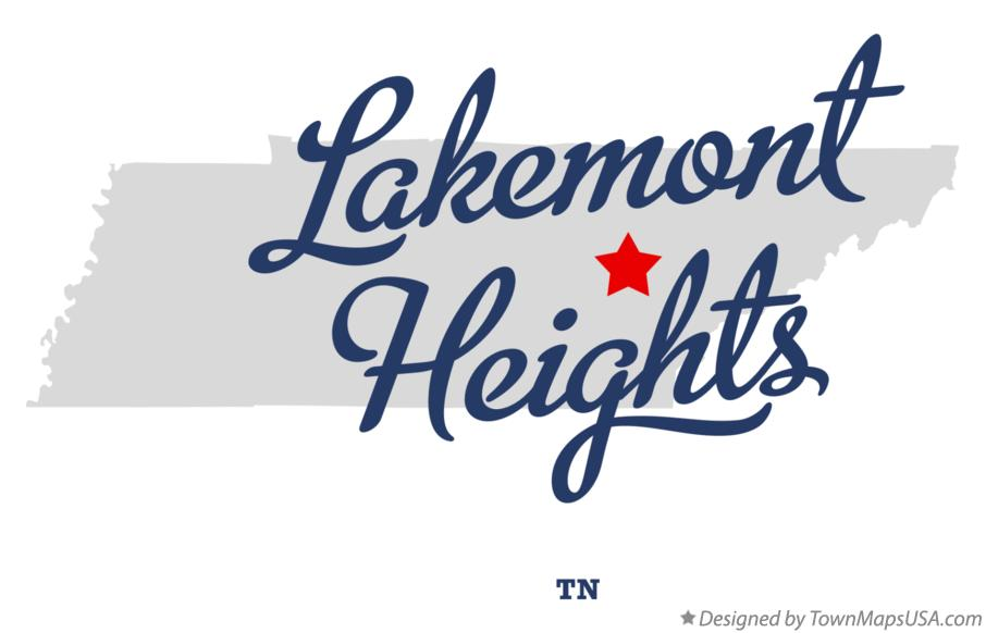 Map of Lakemont Heights Tennessee TN