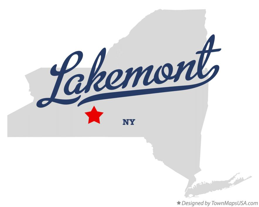 Map of Lakemont New York NY