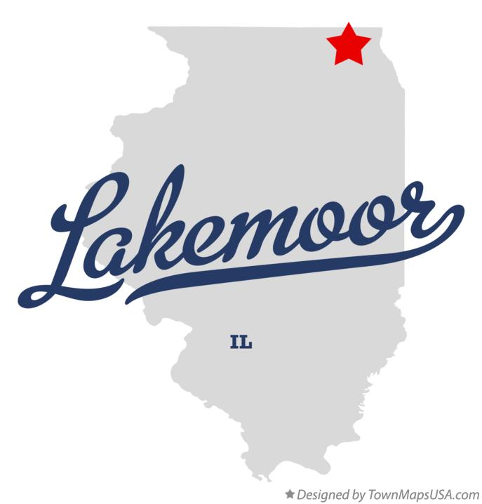 Map of Lakemoor Illinois IL