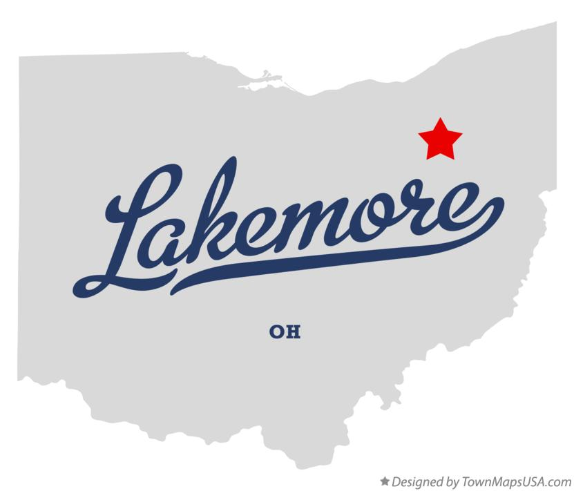 Map of Lakemore Ohio OH