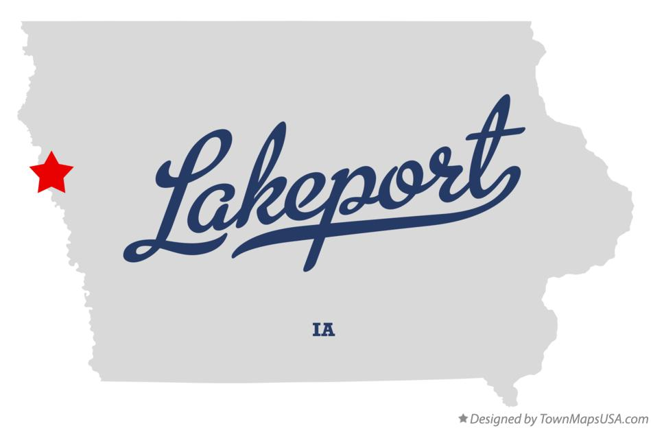 Map of Lakeport Iowa IA