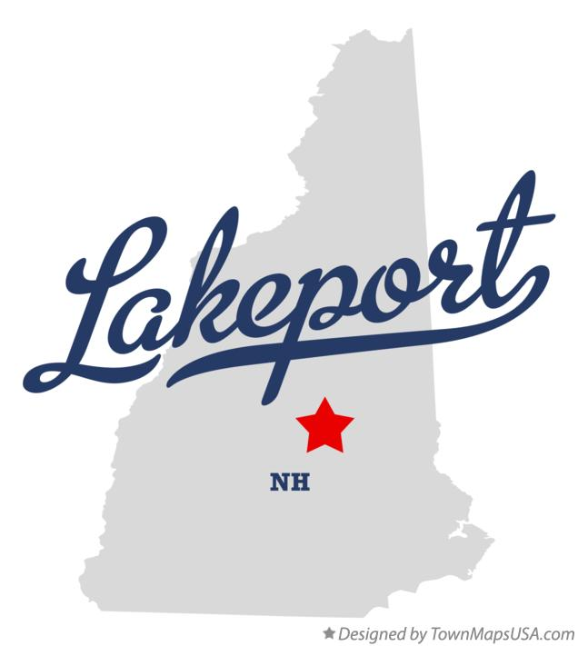 Map of Lakeport New Hampshire NH