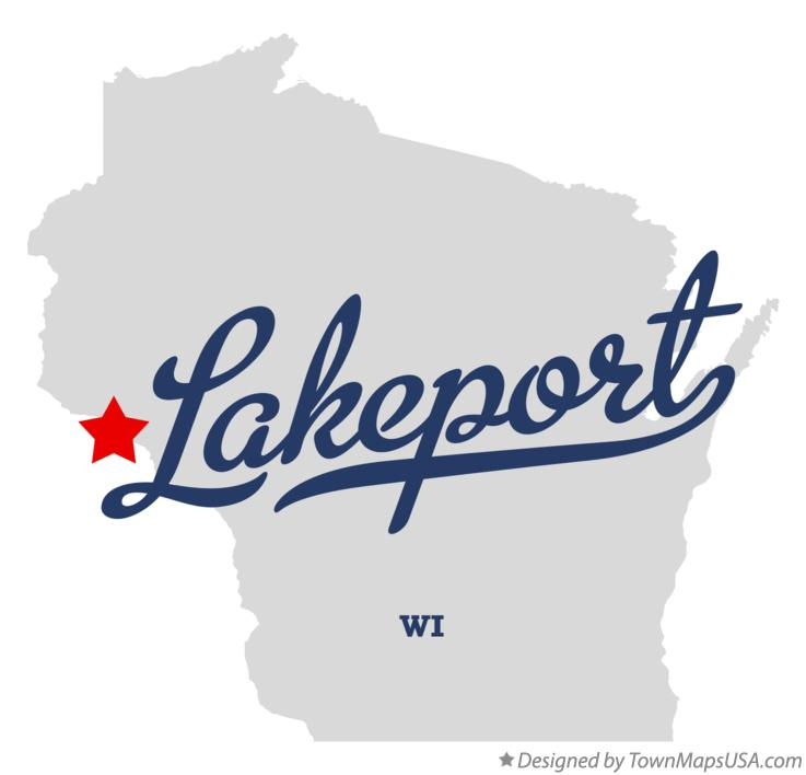Map of Lakeport Wisconsin WI