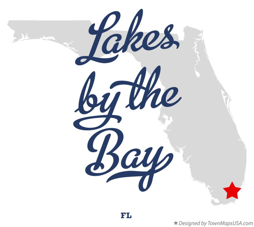 Map of Lakes by the Bay Florida FL