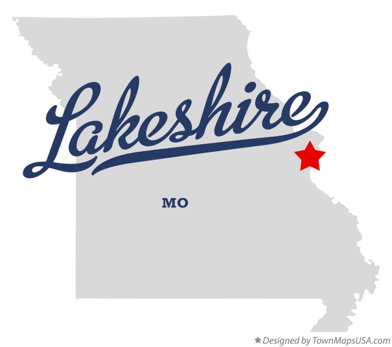 Map of Lakeshire Missouri MO