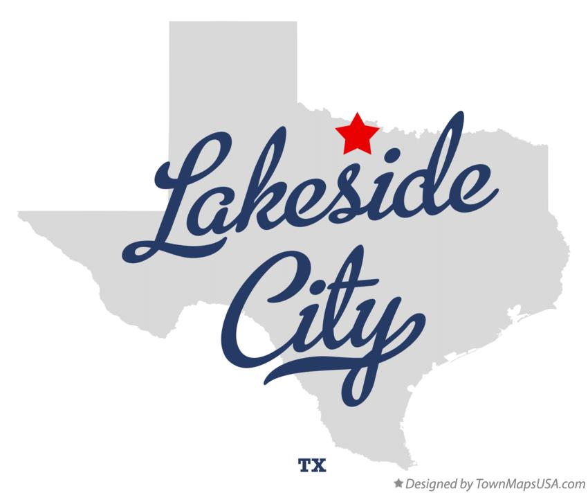 Map of Lakeside City Texas TX