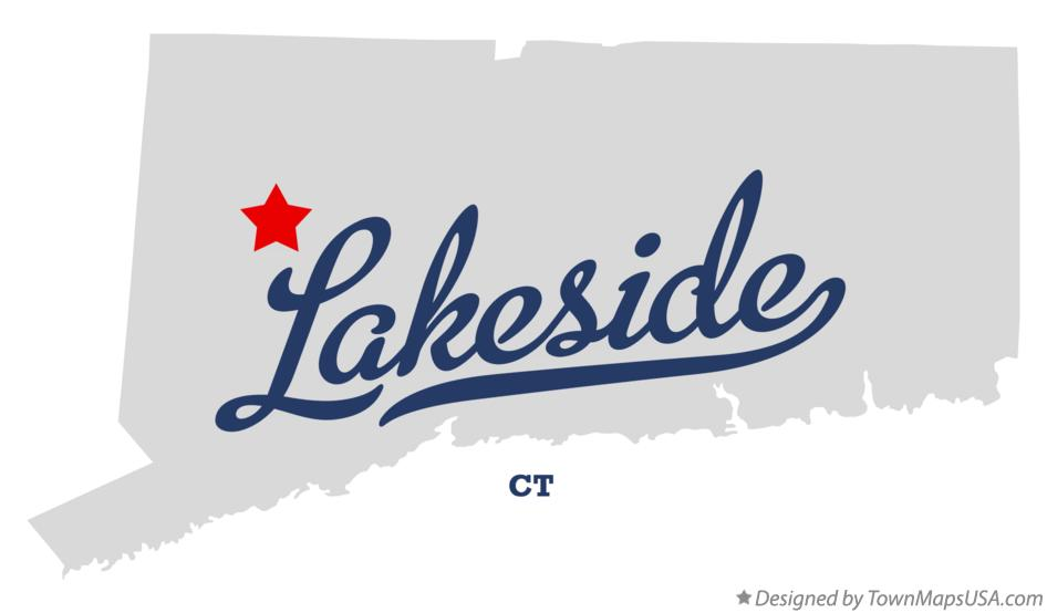 Map of Lakeside Connecticut CT