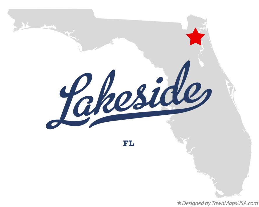 Map of Lakeside Florida FL