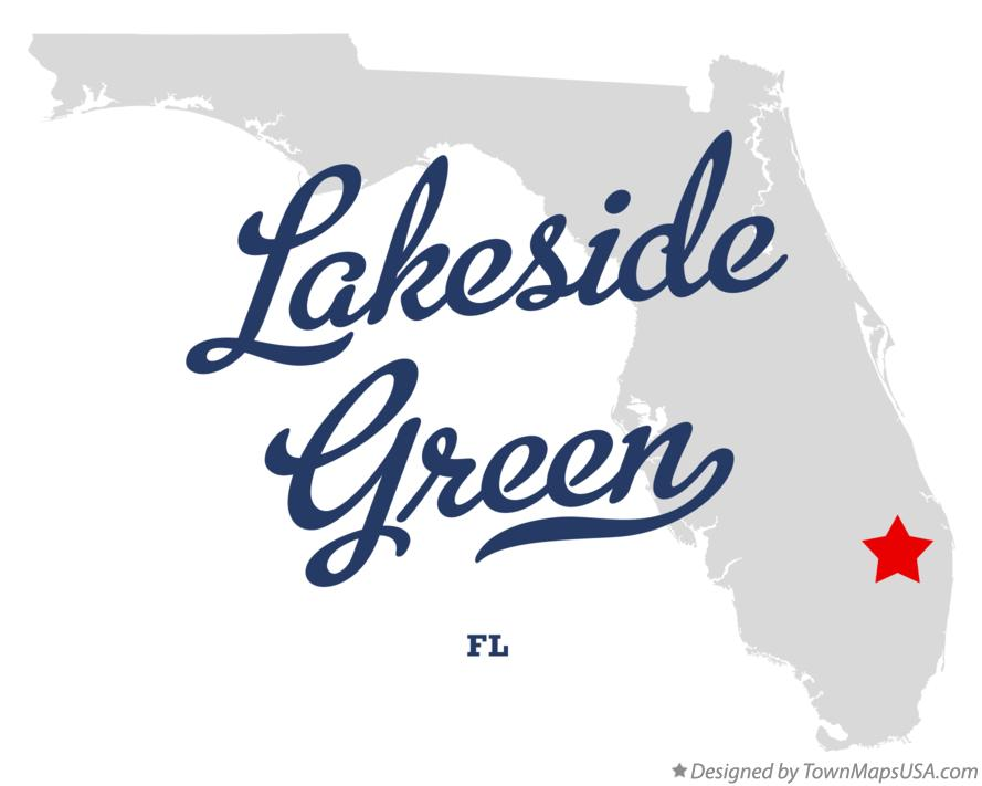 Map of Lakeside Green Florida FL
