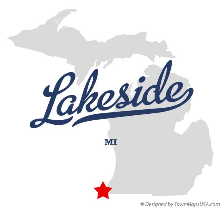 Map of Lakeside Michigan MI