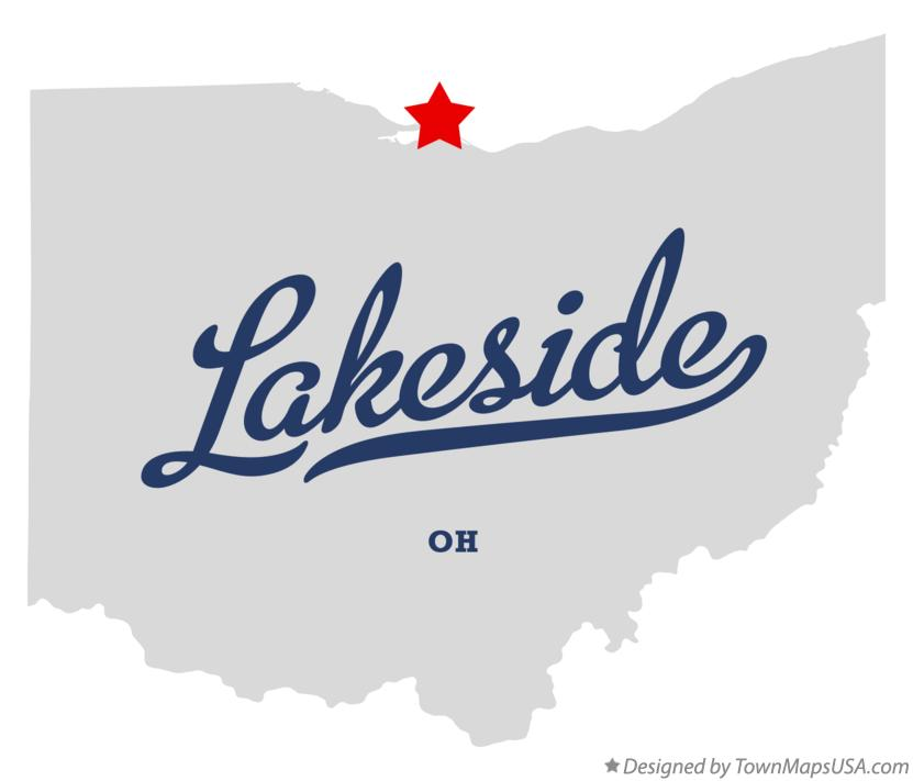 Map of Lakeside Ohio OH
