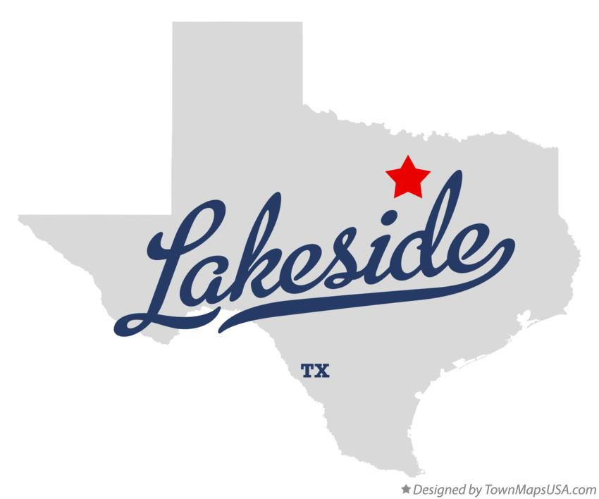 Map of Lakeside Texas TX
