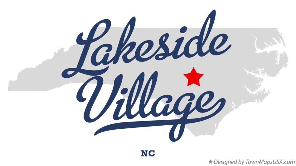 Map of Lakeside Village North Carolina NC