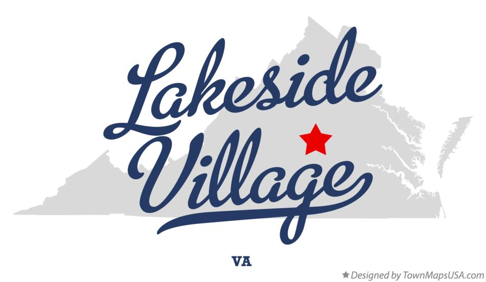Map of Lakeside Village Virginia VA