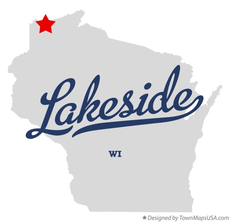 Map of Lakeside Wisconsin WI