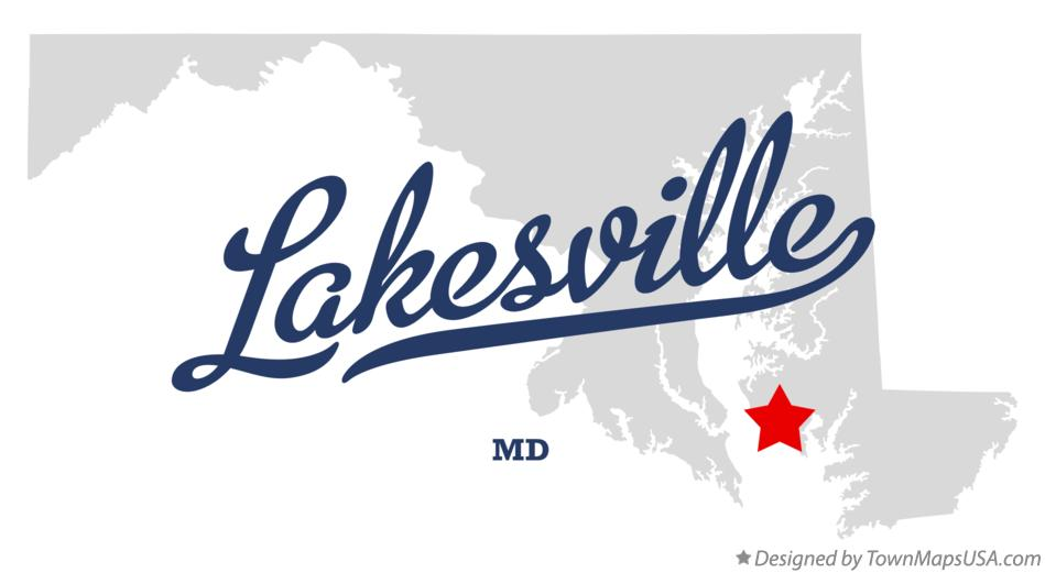Map of Lakesville Maryland MD