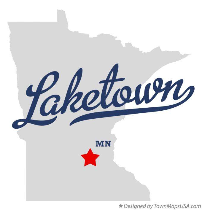 Map of Laketown Minnesota MN