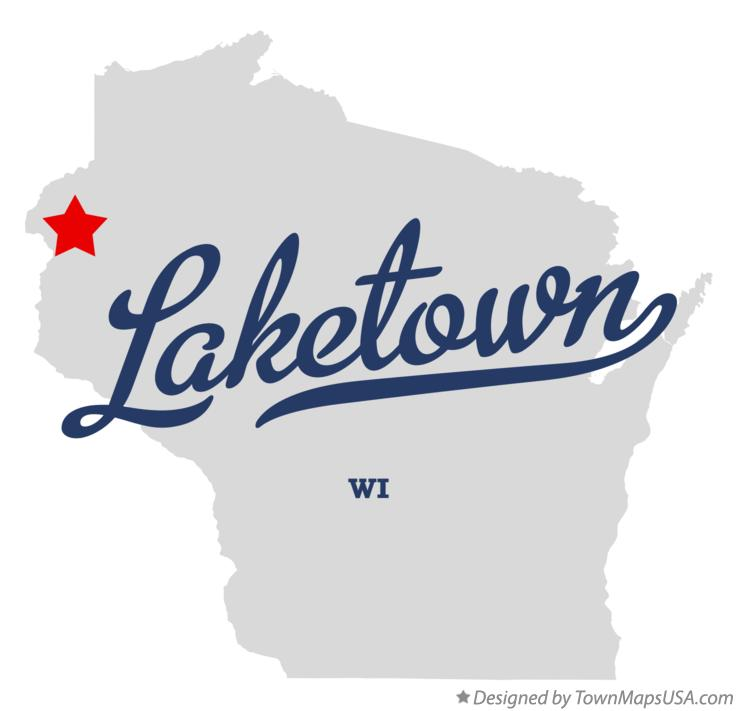 Map of Laketown Wisconsin WI