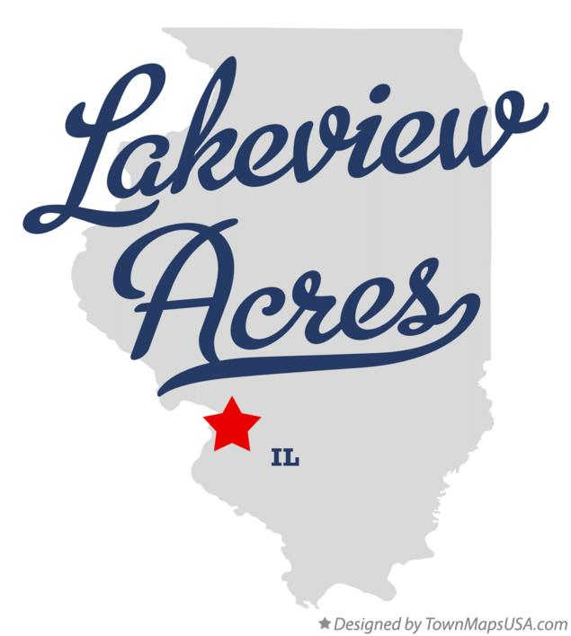Map of Lakeview Acres Illinois IL