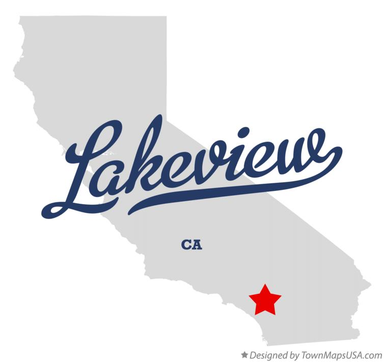 Map of Lakeview California CA