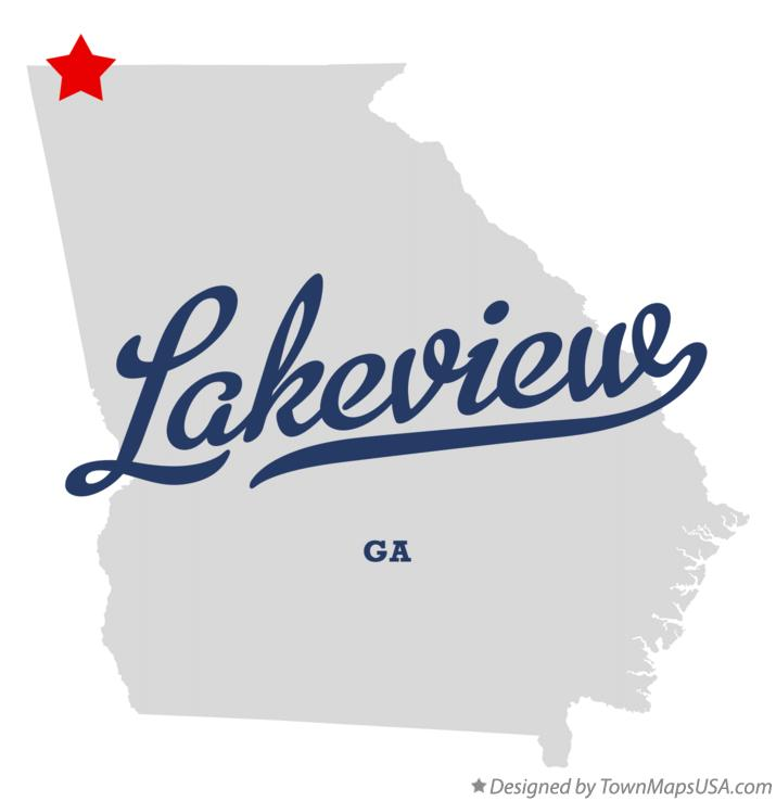 Map of Lakeview Georgia GA