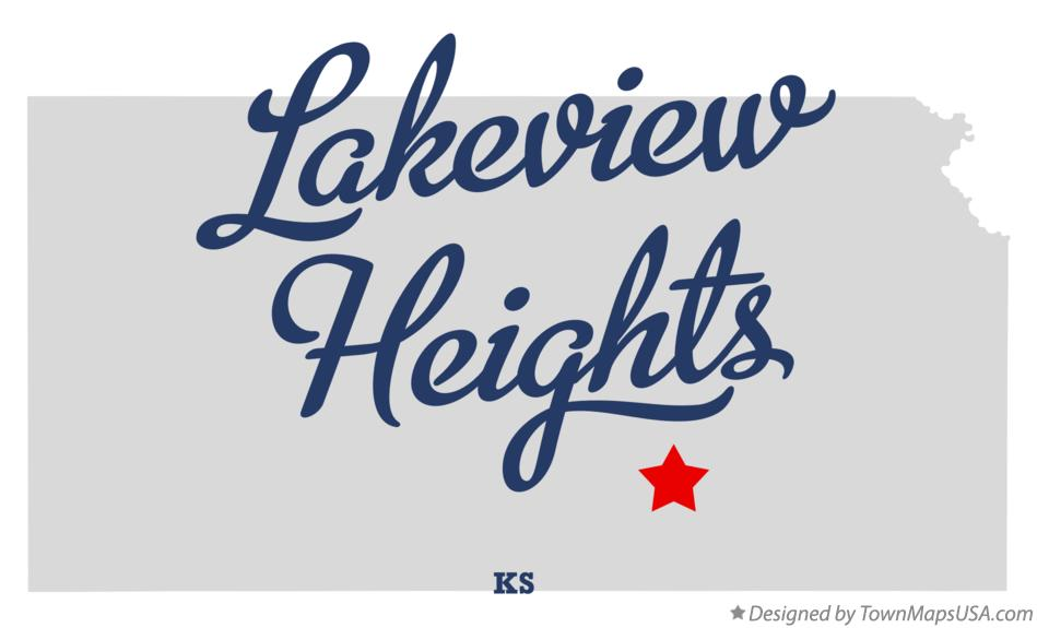 Map of Lakeview Heights Kansas KS