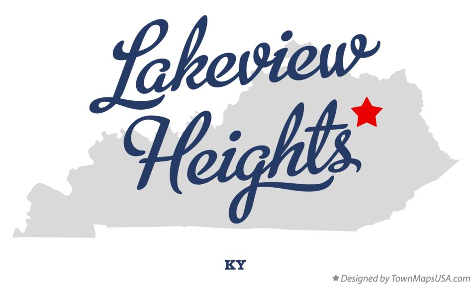 Map of Lakeview Heights Kentucky KY