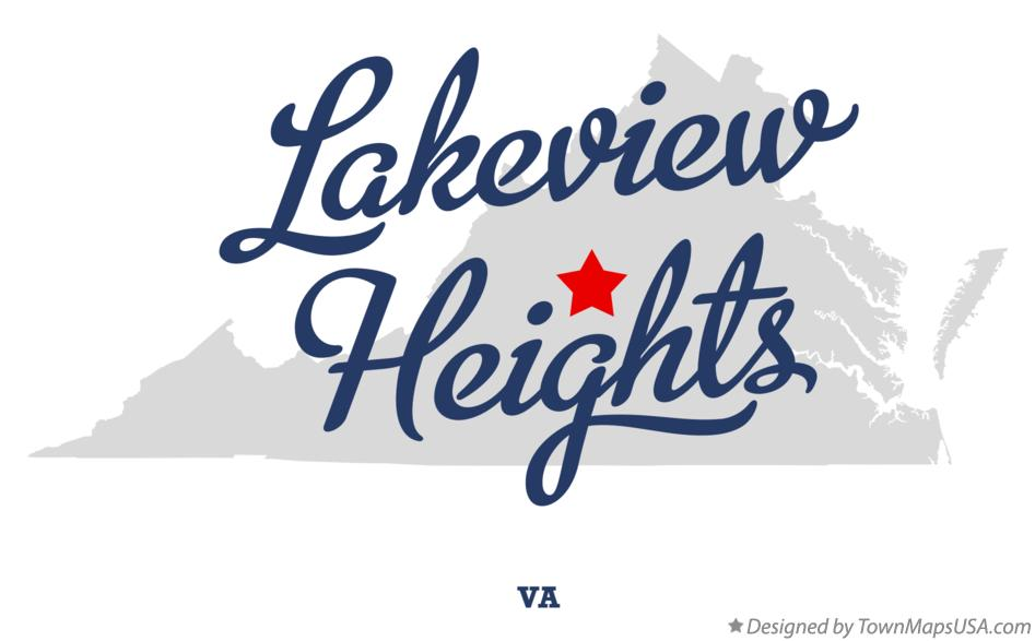 Map of Lakeview Heights Virginia VA