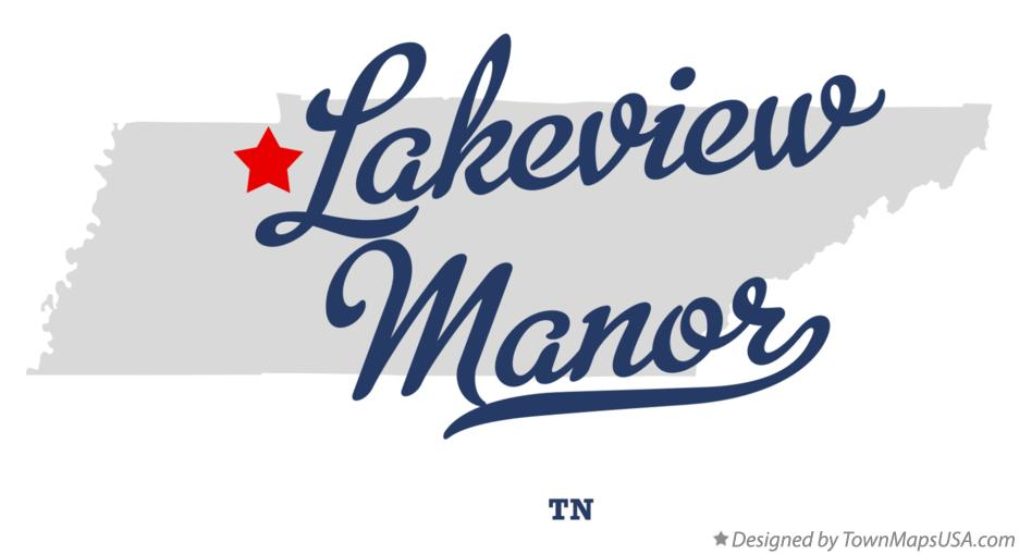 Map of Lakeview Manor Tennessee TN