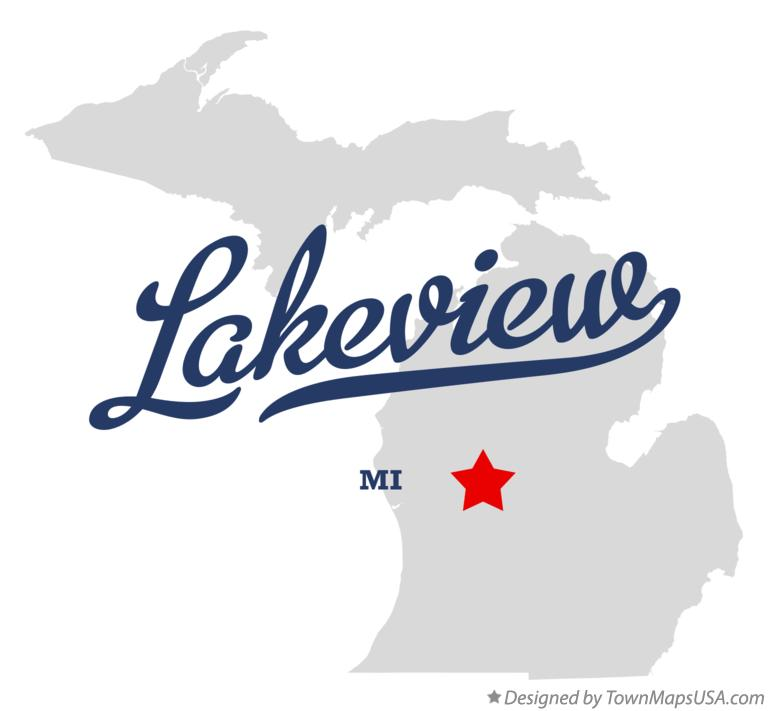 Lakeview Michigan Map.Map Of Lakeview Montcalm County Mi Michigan