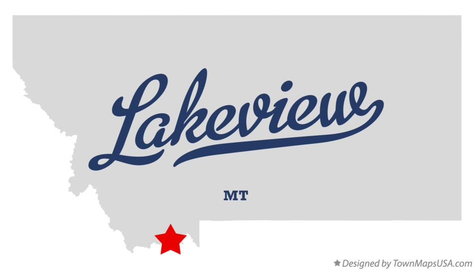 Map of Lakeview Montana MT