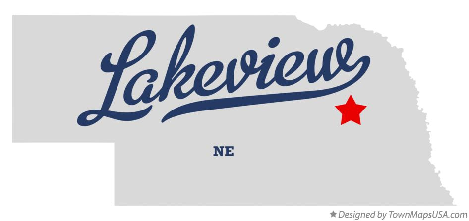 Map of Lakeview Nebraska NE