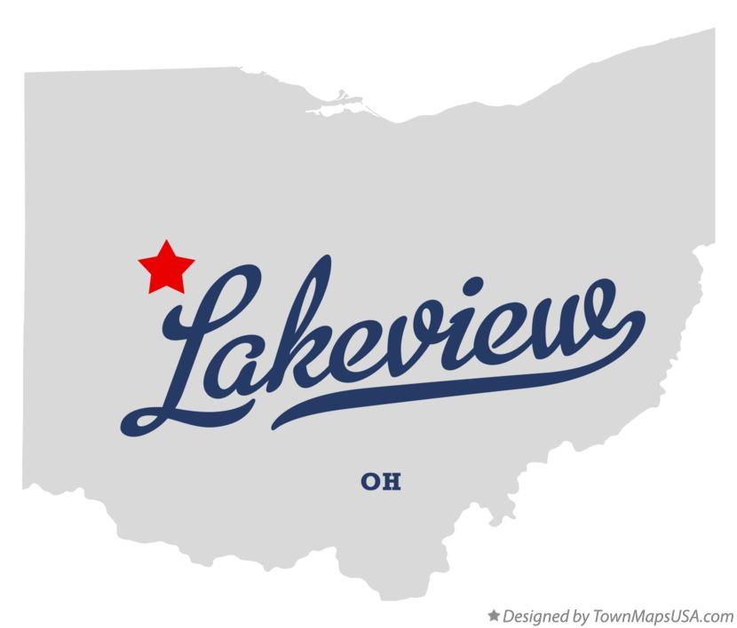 Map of Lakeview Ohio OH