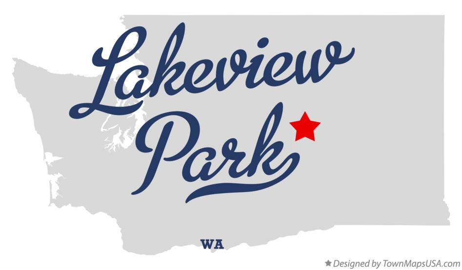Map of Lakeview Park Washington WA