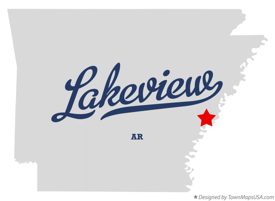 Map of Lakeview Arkansas AR