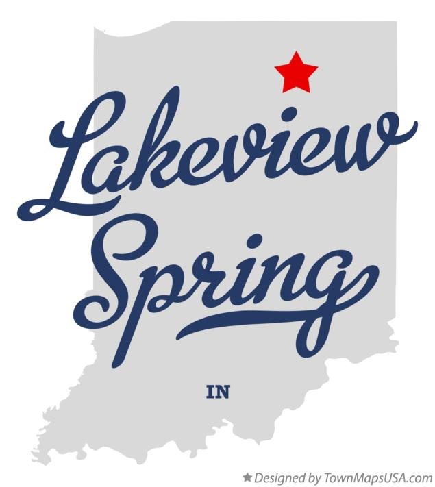 Map of Lakeview Spring Indiana IN